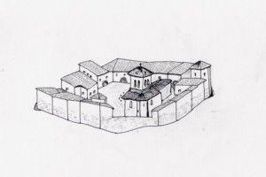 Dessin du fort prieural au XVème